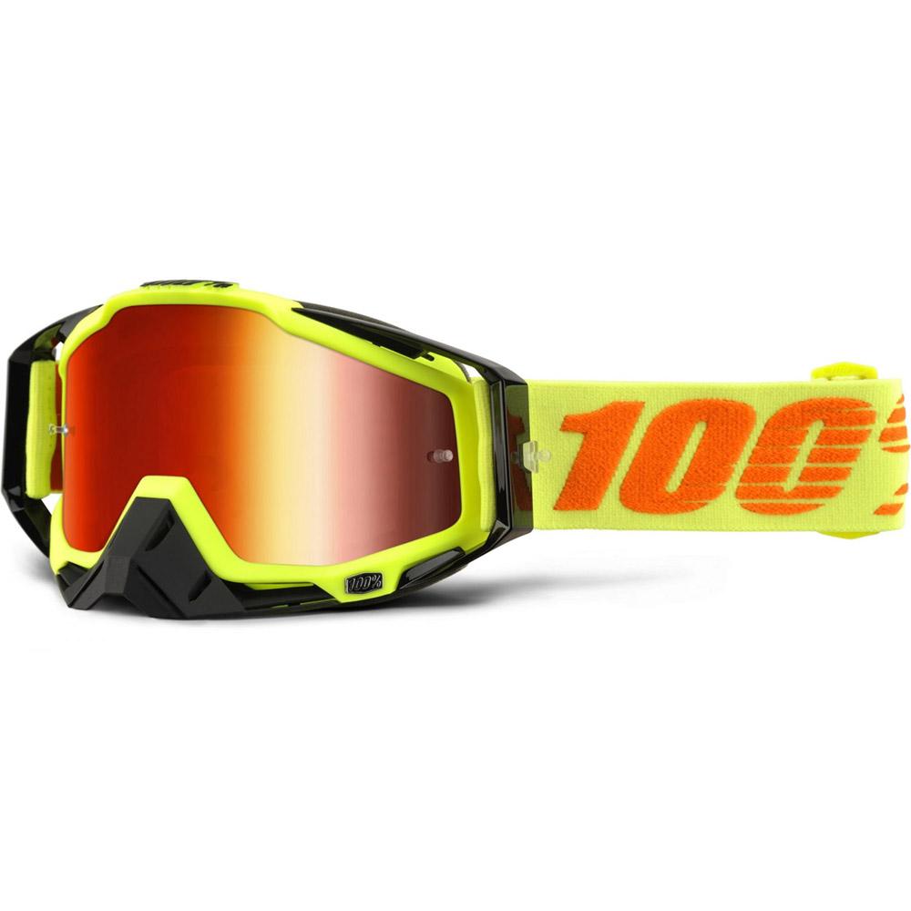 100% - Racecraft Attack Yellow очки, линза зеркальная, красная