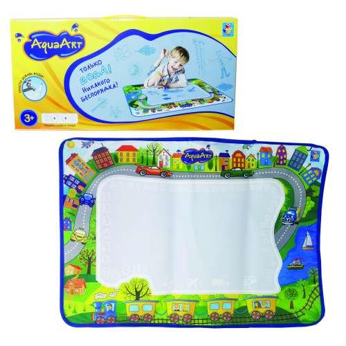 1toy AquaArt коврик для рисования с водным маркером, 72х51 см, моноцветный зелёный для мальчиков