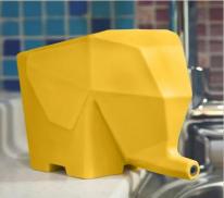 Органайзер для столовых приборов в форме слоника Kitchen Drain device, жёлтый