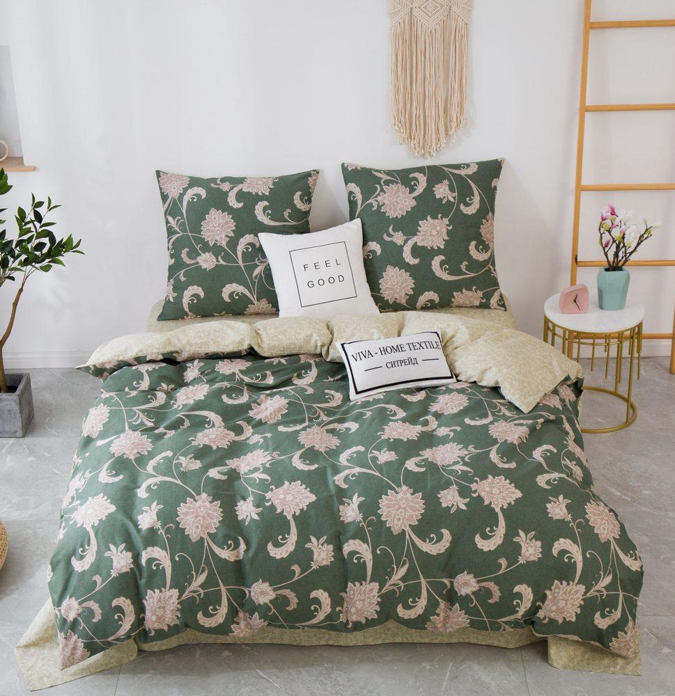 Комплект постельного белья Евро Сатин C357