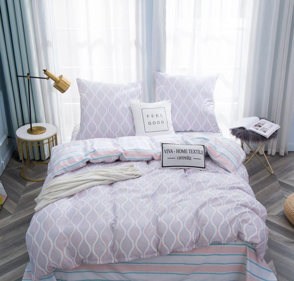 Комплект постельного белья Евро Сатин C356