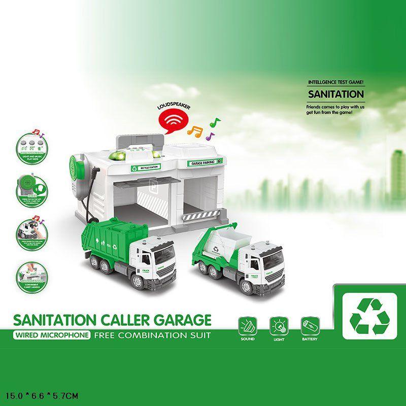 CLM-552 Парковка гараж с металической машинкой Санитарная служба
