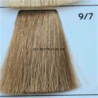 Крем краска для волос 9/7 Светлый Блондин коричневый 100 мл.  Galacticos Professional Metropolis Color