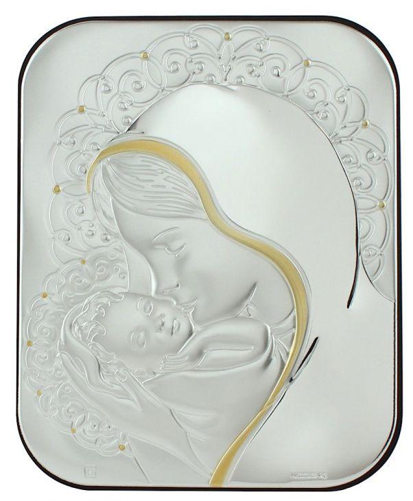 Миниатюра Мадонна с младенцем (Италия, 11х14 см.)