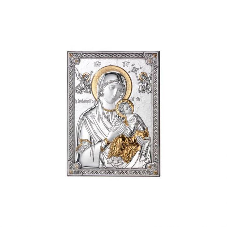 Серебряная Страстная икона Божией Матери (Италия)