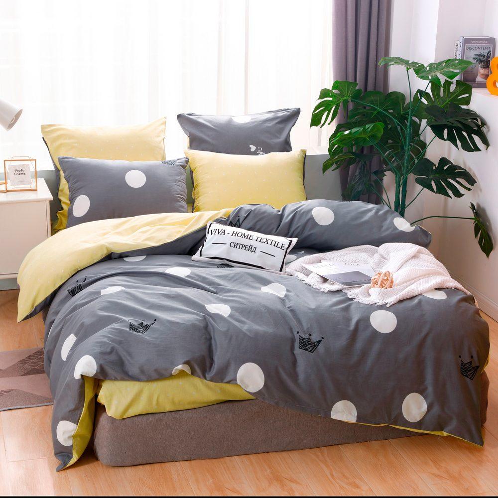 Комплект постельного белья Делюкс 2 спальный Сатин L213