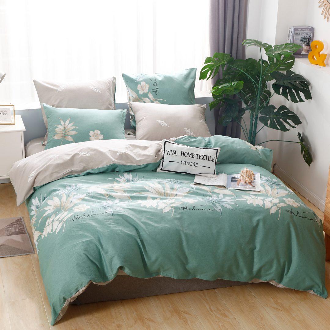 Комплект постельного белья Делюкс 1.5 спальный Сатин L207