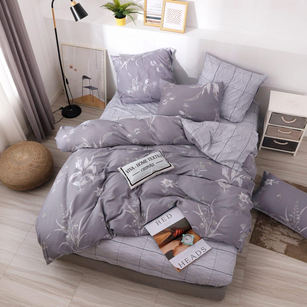 Комплект постельного белья Делюкс Дуэт Семейный  Сатин L216