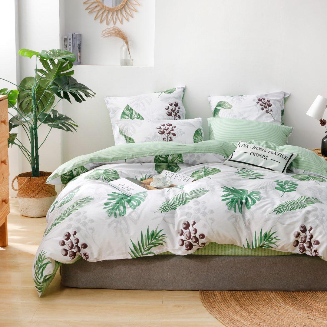 Комплект постельного белья Делюкс 1.5 спальный Сатин L217