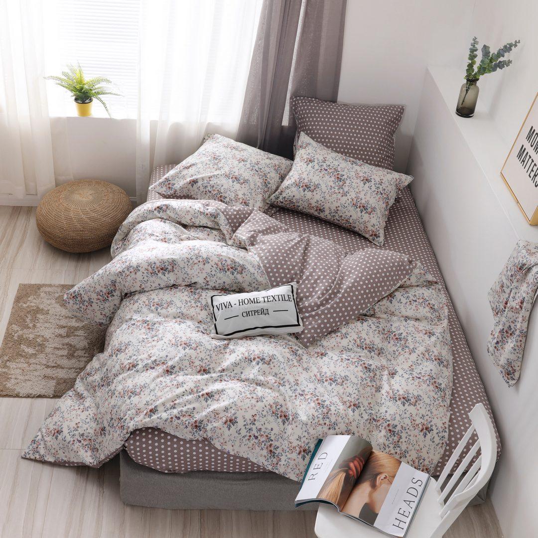Комплект постельного белья Делюкс 2 спальный Сатин L220