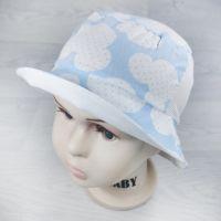 лм1058-10 Панамка из хлопка с вставкой из сетки Микки голубая