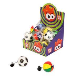Мячи резиновые, мячи прыгуны с резинкой, 6.3см, 20шт., диспл.