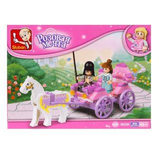 Констр-р серии Розовая мечта, Карета принцессы, 99 дет.
