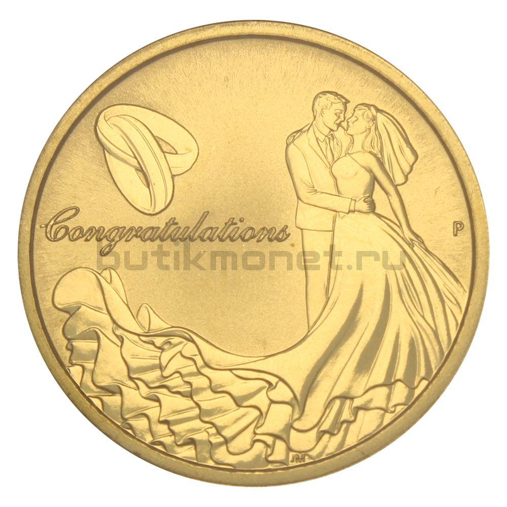 1 доллар 2015 Австралия Свадьба