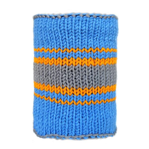 Вязаный шарф из толстой пряжи, с полосками