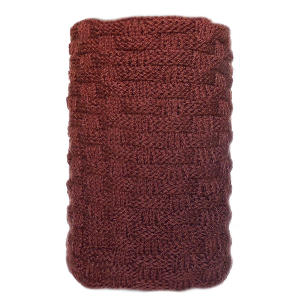 Мужской вязаный шарф Braided chocolate pattern
