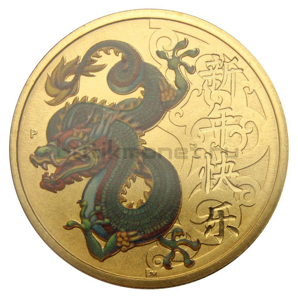 1 доллар 2016 Тувалу Дракон