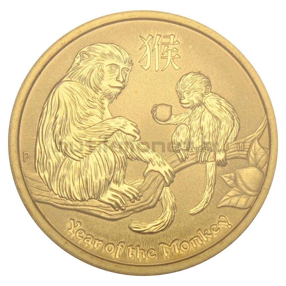 1 доллар 2016 Австралия Год обезьяны