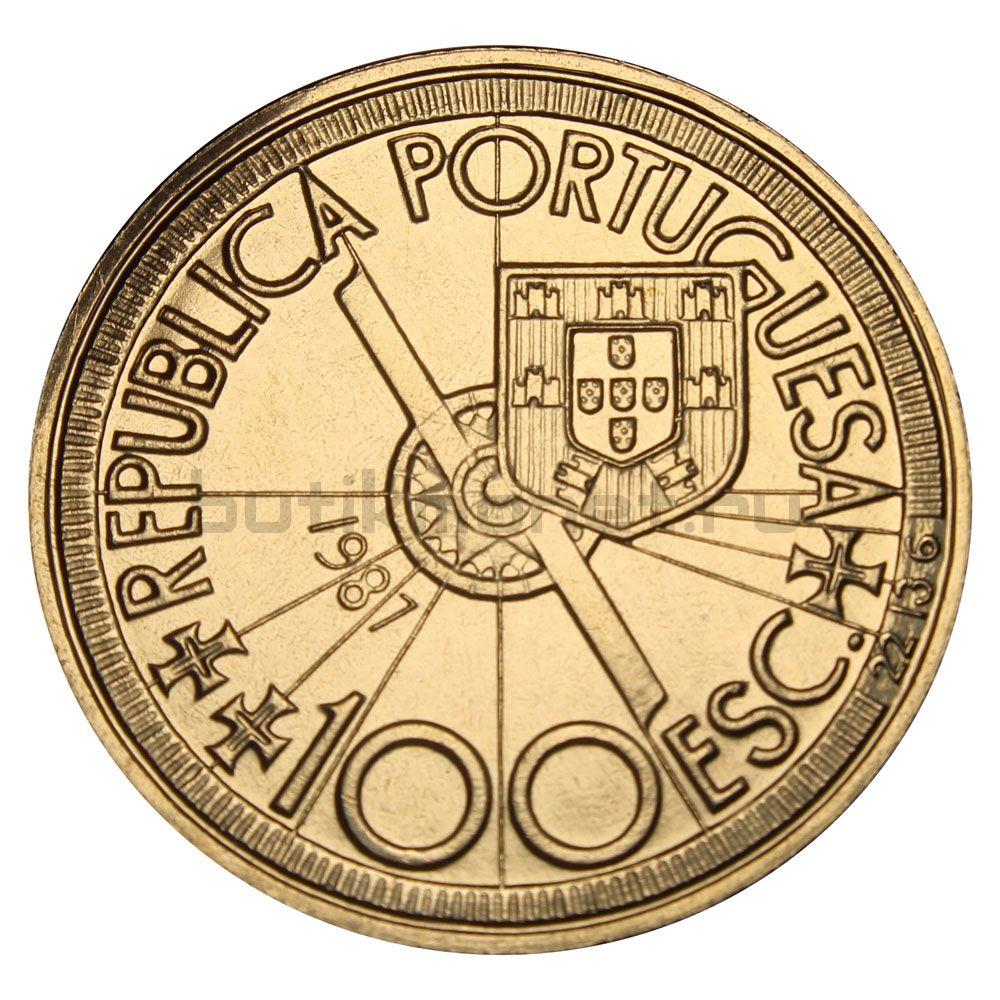 100 эскудо 1987 Португалия Диогу Кан (Золотой век открытий)