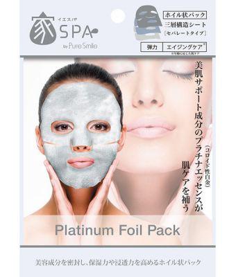 Pure Smile Home Spa Маска для лица фольгированная с экстрактом чайного листа и гиалуроновой кислотой, 20 мл.
