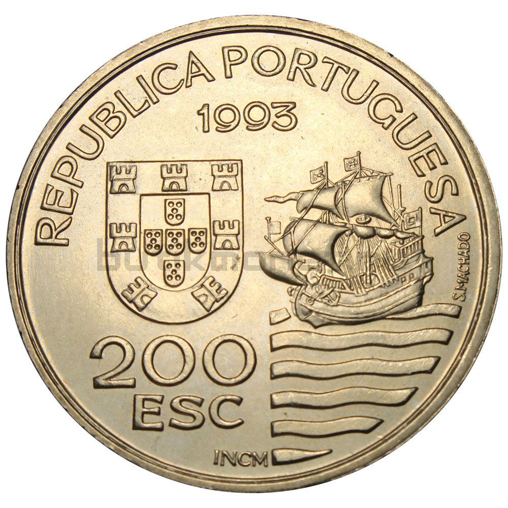 200 эскудо 1993 Португалия Японская миссия в Европе 1582-1590