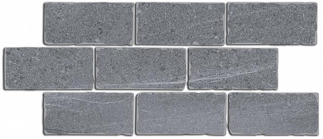 BR023 | Бордюр Роверелла серый мозаичный