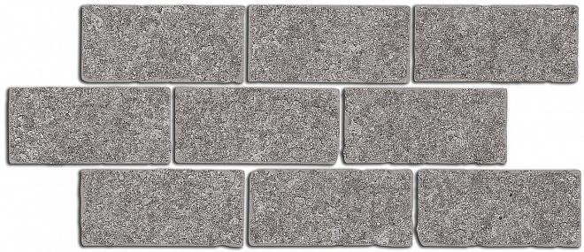 BR025 | Бордюр Роверелла пепельный мозаичный