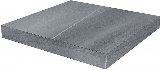 DL500500R/GCD | Ступень угловая клееная правая Роверелла серый