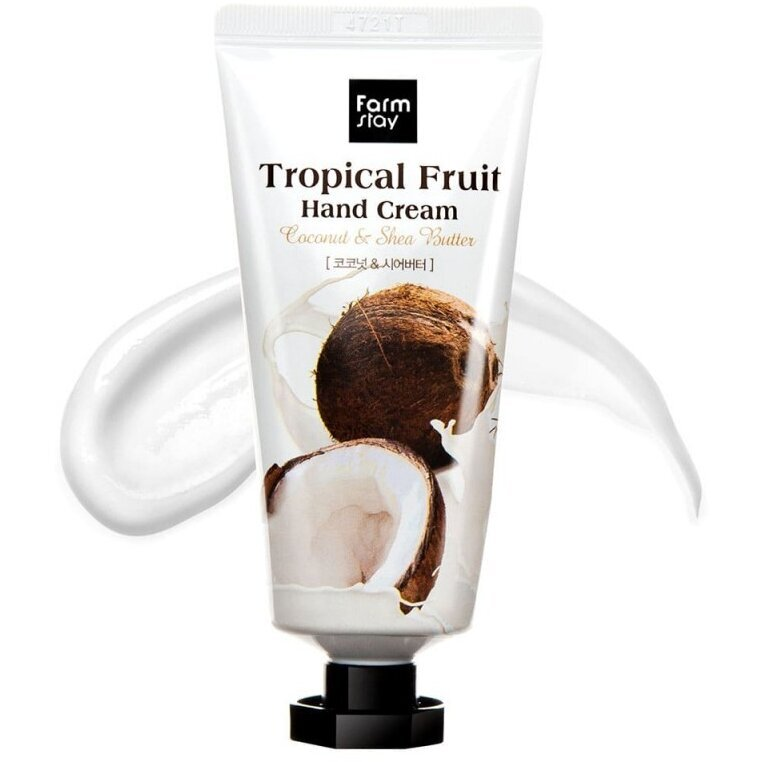 Крем для рук с кокосом и маслом ши FarmStay Tropical Fruit Hand Cream Coconut and Shea Butter, 50 мл