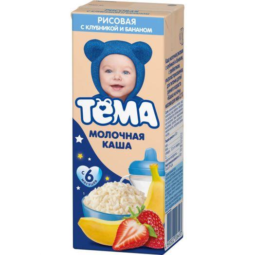 Каша Тема жидкая молочная мультизлак/яблоко/банан 206г