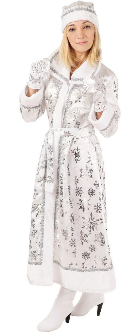 Взрослый серебристый костюм Снегурочки