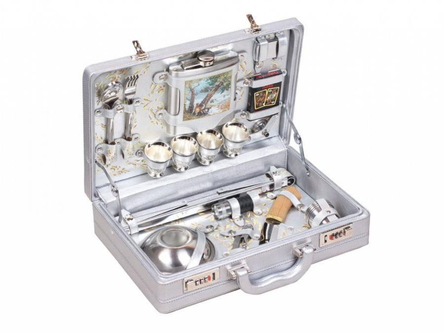 Набор для пикника в чемодане на 4 персоны Стиль 240967
