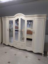 Шкаф Милано MK-8008-IV 6-дверный с зеркалами