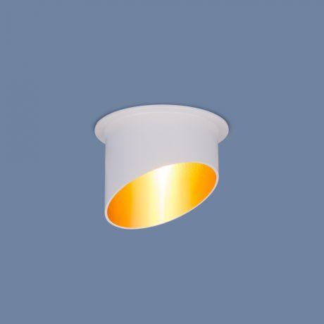 7005 MR16 / Светильник встраиваемый WH/GD белый/золото