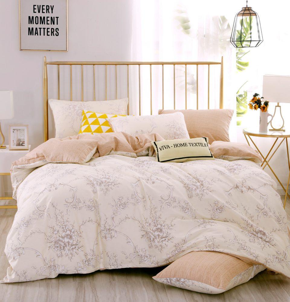 Комплект Дуэт Семейный  постельного белья Люкс-Сатин на резинке AR101
