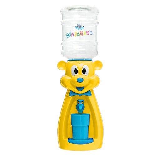 Кулер детский для воды Акваняня Мышка желтая с голубым