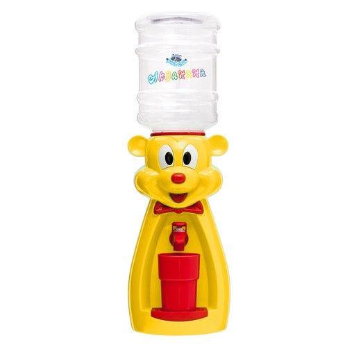 Кулер детский для воды Акваняня Мышка желтая с красным