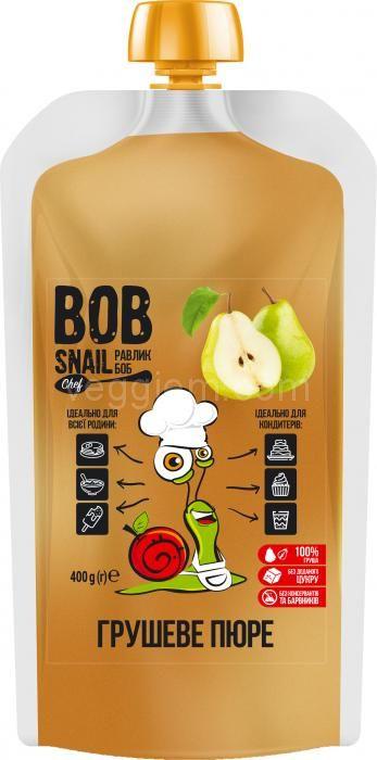 Натуральное грушевое пюре Bob Snail 400 г