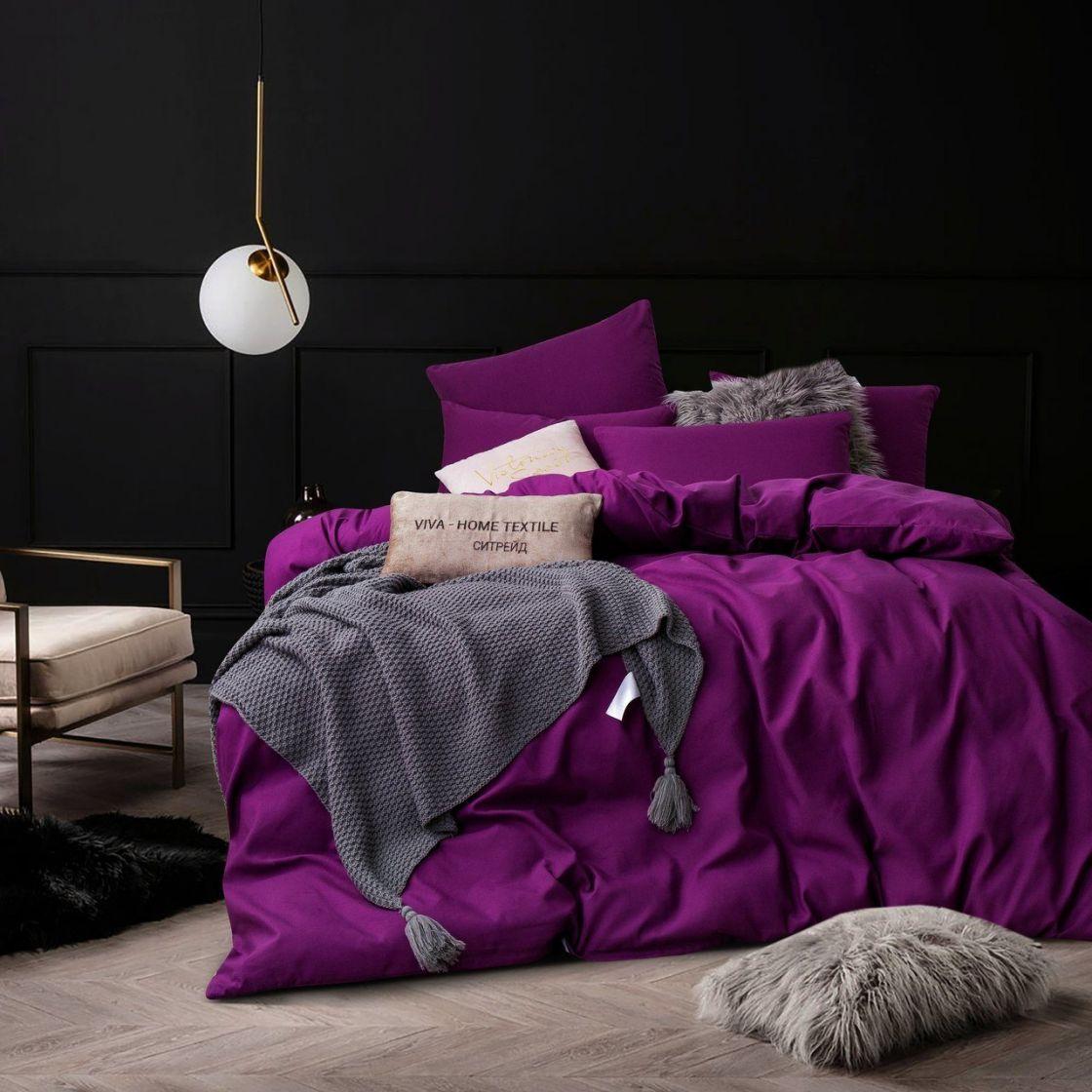 Комплект 2 спальный постельного белья однотонный Сатин CS027