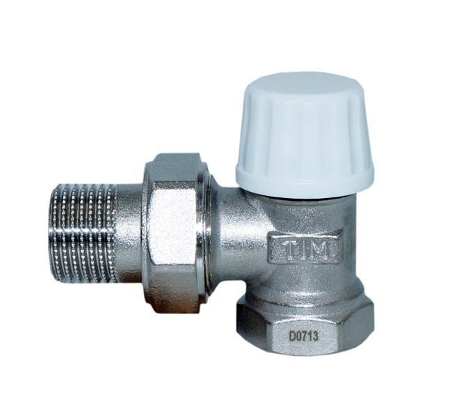 """Клапан радиаторный настроечный угловой 3/4"""" ТИМ (RS521.03)"""