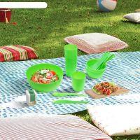 Набор для пикника пластиковый Plastic Centre Отдых на 4 персоны 17 предметов фото2