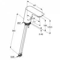 Kludi Balance смеситель для раковины 5210005