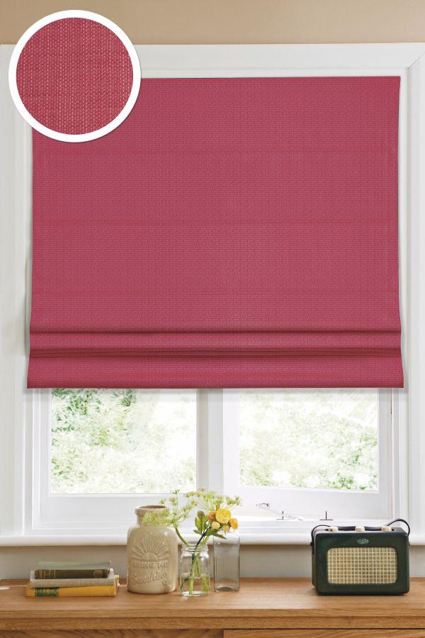 Римская штора Эскар однотонная 60*160, красный
