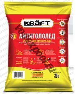 Антигололед KRAFT мешок 5 кг.