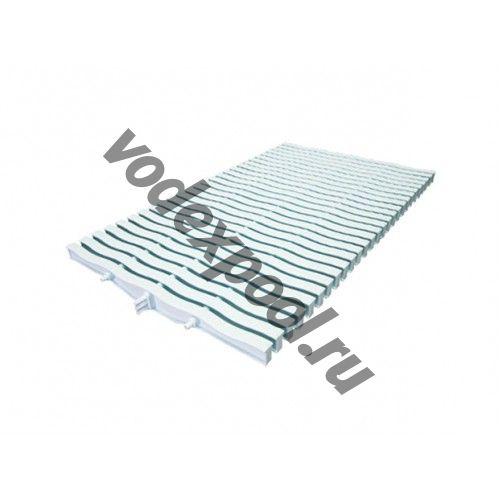 Решетка переливная для прямоугольного бассейна Kripsol NМR 3034.С (белая с легким голубым оттенком, 34х295 мм)