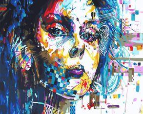Картина по номерам «Девушка абстракция» 40x50 см