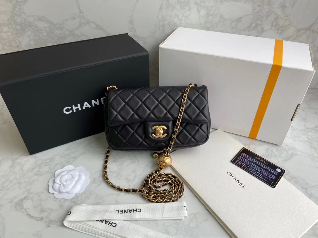 CHANEL Shoulder Flap Bag 20 cm