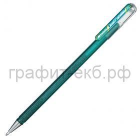 Ручка гелевая Pentel Hybrid Dual Metallic зеленый + синий металлик К110-DDX