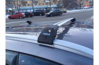 Багажник на интегрированные рейлинги Turtle Tourmaline V2, крыловидные дуги (серебристый цвет)