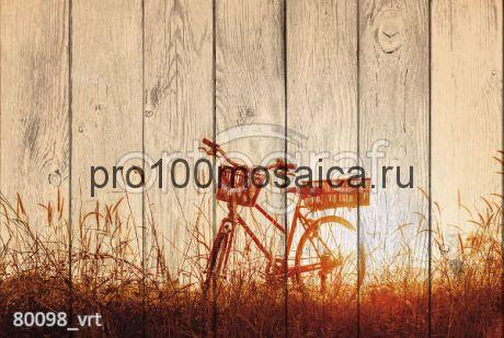 80098 Картина на досках серия ВЕЛОСИПЕДЫ